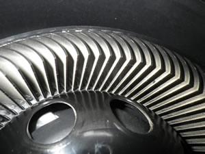 sharpの空気清浄機のファンを拡大した写真