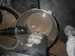 ドレンホースの汚れ