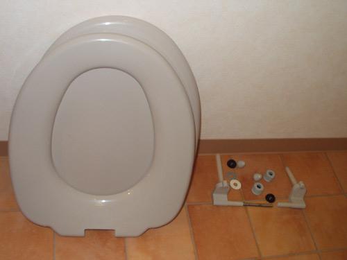 トイレ分解クリーニング画像